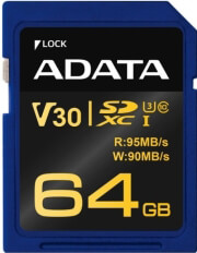 ADATA PREMIER PRO SDXC 64GB UHS-I U3 V30G CLASS 10 RETAIL