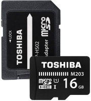 TOSHIBA M203 16GB MICRO SDHC UHS-I 100MB/S WITH SD CARD ADAPTER