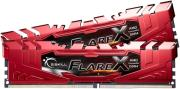 RAM G.SKILL F4-2400C15D-16GFXR 16GB (2X8GB) DDR4 2400MHZ FLARE X RED (FOR AMD) DUAL CHANNEL KIT