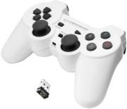 ESPERANZA EGG108W GLADIATOR VIBRATION GAMEPAD WIRELESS FOR PC / PS3 WHITE/BLACK