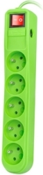 EXTREME MEDIA NSP-0839 SP5 SURGE PROTECTOR 1.5M GREEN ΜΕ ΔΙΑΚΟΠΤΗ
