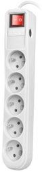 EXTREME MEDIA NSP-0835 SP5 SURGE PROTECTOR 1.5M WHITE ΜΕ ΔΙΑΚΟΠΤΗ