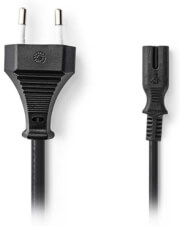 NEDIS PCGP11040BK20 POWER CABLE EURO PLUG - IEC-320-C7 2M BLACK