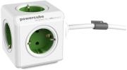 ALLOCACOC POWERCUBE EXTENDED INCL. 1.5M CABLE GREEN TYPE F WHITE