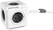ALLOCACOC POWERCUBE EXTENDED INCL. 1.5M CABLE GREY TYPE F