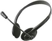 TRUST 21665 PRIMO CHAT HEADSET FOR PC AND LAPTOP BLACK