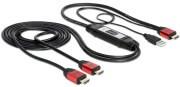 DELOCK 83279 HDMI - 2X HDMI+POWER USB ON CABLE 2M VIDEO SPLITTER