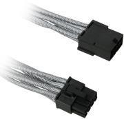 BITFENIX 8-PIN PCIE EXTENSION 45CM - SLEEVED SILVER/BLACK