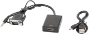 LANBERG ADAPTER VGA(F)+AUDIO 3.5MM JACK - HDMI(M)