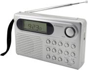 SOUNDMASTER WE320 10-BAND RADIO WITH LCD ALARM CLOCK SILVER