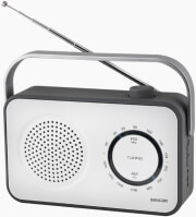 SENCOR SRD 2100W PORTABLE FM / AM RADIO RECEIVER WHITE