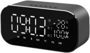 AKAI ABTS-S2 DUAL ALARM CLOCK AND BLUETOOTH SPEAKER 6W WITH RADIO, AUX-IN AND USB FOR CHARGING BLAC