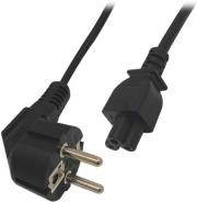 VALUELINE VLEP10100B2.00 POWER CABLE SCHUKO ANGLED MALE - IEC-320-C5 2M BLACK
