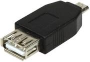 LOGILINK AU0029 USB 2.0 ADAPTER MICRO B MALE TO USB A FEMALE BLACK