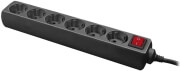 LOGILINK LPS202B 6-SOCKET OUTLET STRIP WITH SWITCH/CHILD PROTECTION 1.5M BLACK