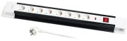 LOGILINK LPS207 8-WAY OUTLET STRIP 8X SCHUKO SOCKETS WITH SWITCH/CHILD PROTECTION 3M BLACK/WHITE