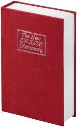 HAMA 50531 BS-180 BOOK SAFE, THE NEW ENGLISH DICTIONARY DESIGN RED