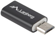 LANBERG ADAPTER USB TYPE-C(F) - MICRO-B(M) 2.0 BLACK
