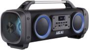 AKAI ABTS-SH02 PORTABLE BLUETOOTH SPEAKER 26W KARAOKE WITH USB, LED, AUX-IN