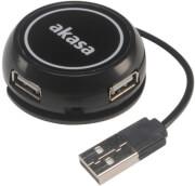 AKASA AK-HB-19BK CONNECT 4C 4-IN-1 ULTRA COMPACT 4-PORT USB HUB BLACK
