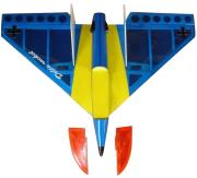 VQ DELTA JET AIRPLANE YELLOW/BLUE ARF KIT
