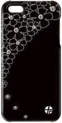 ΘΗΚΗ LEATHER TREXTA APPLE IPHONE 5 CRYSTAL FLOWER BLACK