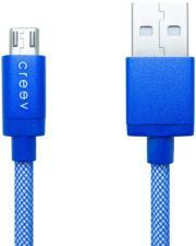 CREEV MU-200 MICRO USB TO USB CABLE 1M BLUE