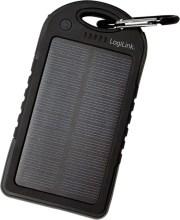 LOGILINK PA0132 UNIVERSAL SOLAR POWER CHARGER 5000MAH 2X USB PORTS 5V/1A BLACK