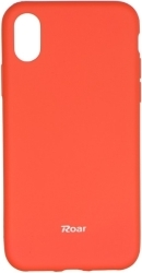 ROAR COLORFUL JELLY BACK COVER CASE FOR APPLE IPHONE X PEACH PINK