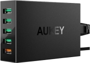 AUKEY PA-T15 5-PORT CHARGING STATION WITH QUICK CHARGE 3.0 54W/10.2A