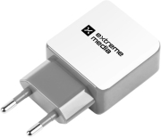 EXTREME MEDIA NUC-0996 UNIVERSAL DUAL USB CHARGER 230V 5V/2.1A WHITE/GREY