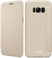 NILLKIN SPARKLE LEATHER FLIP CASE FOR SAMSUNG GALAXY S8 PLUS GOLD