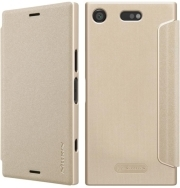 NILLKIN SPARKLE LEATHER FLIP CASE FOR SONY XPERIA XZ1 COMPACT GOLD