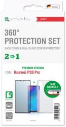 4SMARTS 360° PREMIUM PROTECTION SET ''CASE FRIENDLY'' FOR HUAWEI P30 PRO BLACK