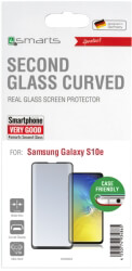 4SMARTS SECOND GLASS CURVED COLOUR FRAME ''CASE FRIENDLY'' FOR SAMSUNG GALAXY S10 LITE BLACK