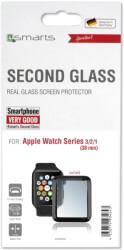 4SMARTS SECOND GLASS CURVED COLOUR FRAME FOR APPLE WATCH SERIES 3/2/1 (38MM) BLACK