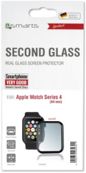 4SMARTS SECOND GLASS CURVED COLOUR FRAME FOR APPLE WATCH SERIES 5/ 4 (44MM) BLACK