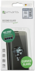 4SMARTS SECOND GLASS CURVED COLOUR FRAME EASY-ASSIST FOR APPLE IPHONE XS / X BLACK