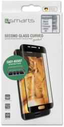 4SMARTS SECOND GLASS CURVED COLOUR FRAME EASY-ASSIST FOR APPLE IPHONE XS MAX BLACK