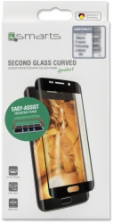 4SMARTS SECOND GLASS CURVED COLOUR FRAME EASY-ASSIST FOR SAMSUNG GALAXY S8 BLACK