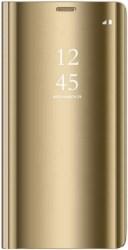 SMART CLEAR VIEW FLIP CASE FOR HUAWEI P8 LITE 2017 / HUAWEI P9 LITE 2017 GOLD
