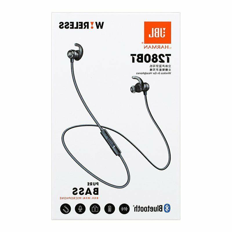 New JBL-T280BT Sport In-Ear Earbuds Bluetooth Wireless
