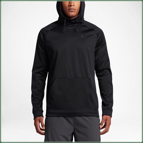 Nike Therma Hoodie Mens Training Clothing Black