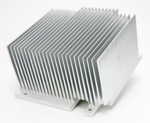CPU fans often work together with heat sinks to keep a computer cool.