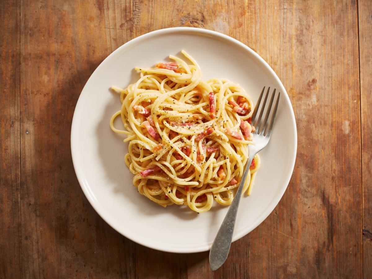 Spaghetti Carbonara Recipe And Nutrition Eat This Much