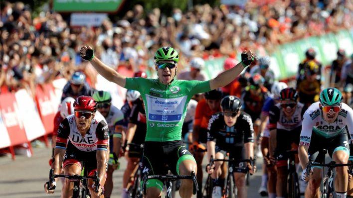 Jakobsen celebra la victoria. (EFE)