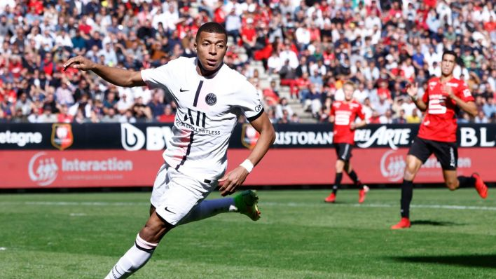 Mbappé, durante un partido de la Ligue 1. (Reuters)
