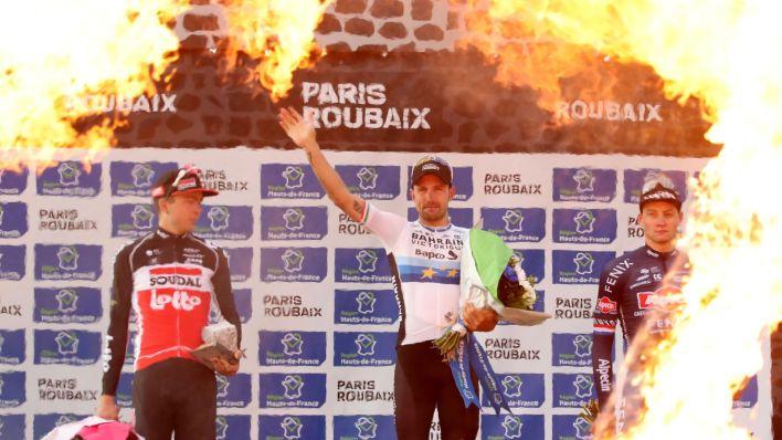 El podio final. (EFE)