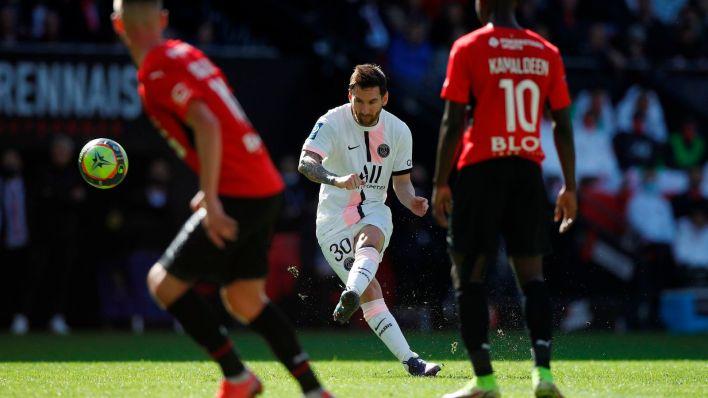 Messi, en un partido con el PSG. (EFE)