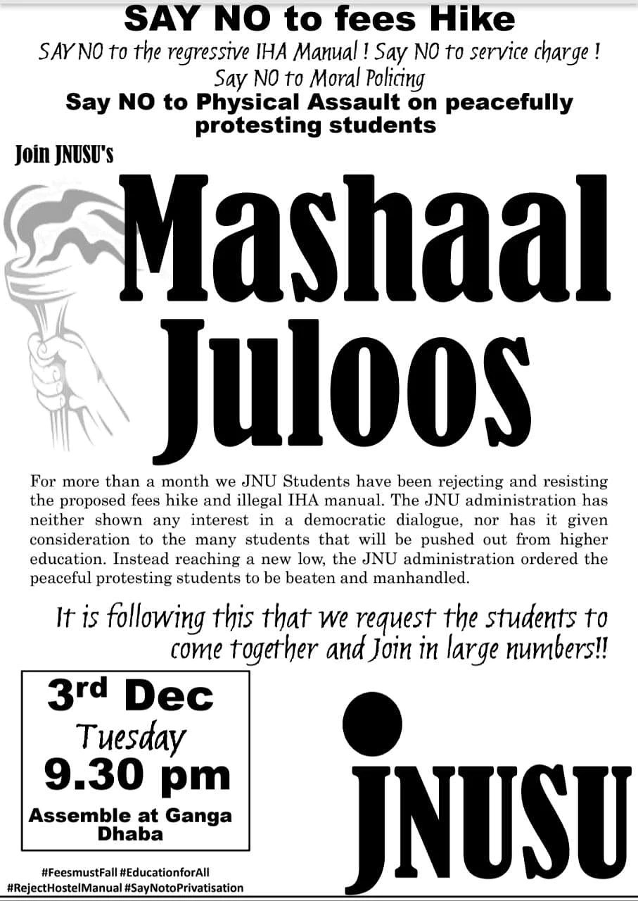 JNU to light up at night as protesting students plan to